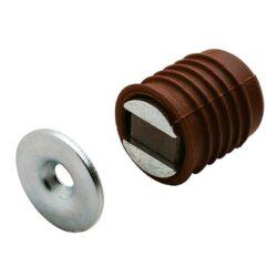 Защелка магнитная врезная, коричневая