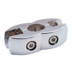 R-7A Крепеж для плиты двусторонний+ вкладыш, хром