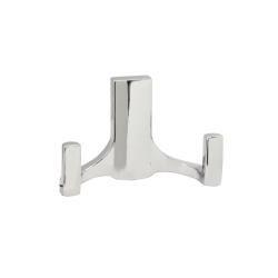 Крючок мебельный R17 2-х рожковый, хром